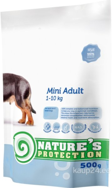 Nature's Protection Dog Mini Adult, 2 kg цена и информация | Kuivtoit koertele | kaup24.ee