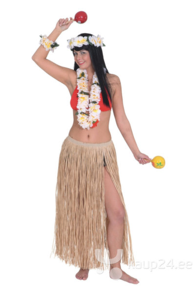 Гавайская юбка, 70 см цена и информация | Karnevali  kostüümid | kaup24.ee
