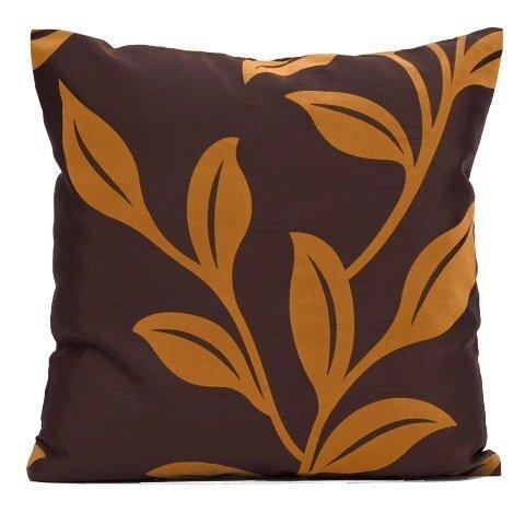 Dekoratiivne padjapüür Garden 40x40 cm, pruun/oranž 2 tk цена и информация | Dekoratiivsed padjad | kaup24.ee