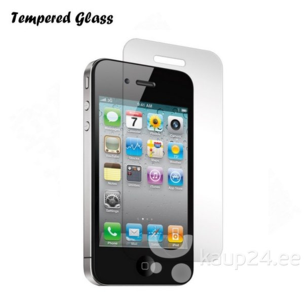 Kaitsekile Tempered Glass Apple iPhone 4 4S hind ja info | Ekraani kaitsekiled | kaup24.ee