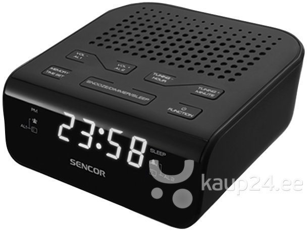 Радио-будильник Sencor SRC 136 GN Черный цена и информация | Raadiod ja äratuskellad | kaup24.ee