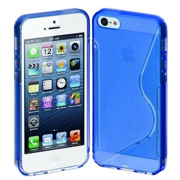 Telone Back Case S-Case iPhone 5 / 5S силиконовый чехол Синий цена и информация | Mobiili ümbrised, kaaned | kaup24.ee
