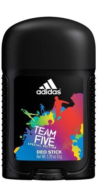 Pulkdeodorant Adidas Team Five meestele 53 ml цена и информация | Lõhnastatud kosmeetika meestele | kaup24.ee