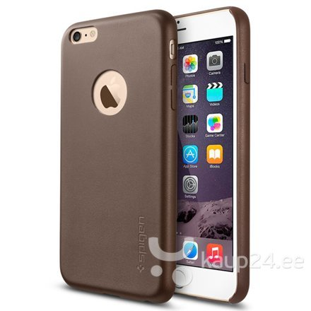 Kaitseümbris Spigen Leather Fit / Apple iPhone 6 Plus, Pruun цена и информация | Mobiili ümbrised, kaaned | kaup24.ee
