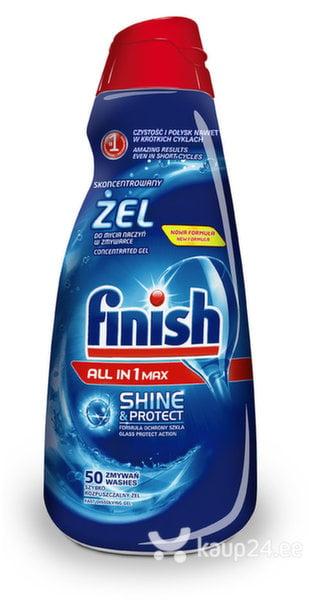 Kontsentreeritud nõudepesu geel Finish All in 1 Hi Shine & Protect, 1 L цена и информация | Nõudepesuvahendid | kaup24.ee
