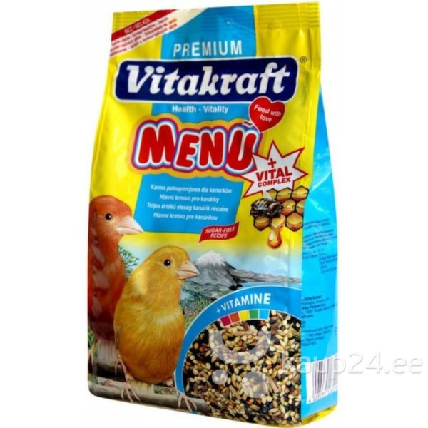 Vitakraft Menu Vital Honey toit kanaarilindudele, 500 g цена и информация | Toit | kaup24.ee