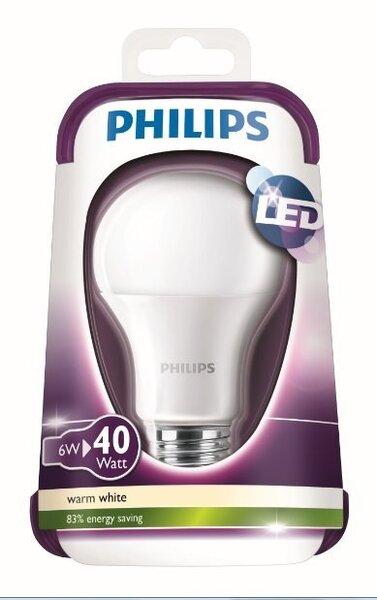 LED pirn Philips E27 6W hind ja info | Lambipirnid, lambid | kaup24.ee