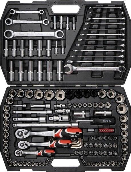 Tööriistakomplekt Yato CrV 150tk 1/2 цена и информация | Käsitööriistad | kaup24.ee