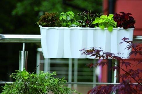 Pott rõdule, valge цена и информация | Dekoratiivsed lillepotid | kaup24.ee