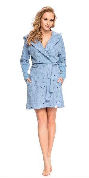 Naiste hommikumantel DN Nightwear, sinine цена и информация | Naiste öösärgid, pidžaamad ja hommikumantlid | kaup24.ee