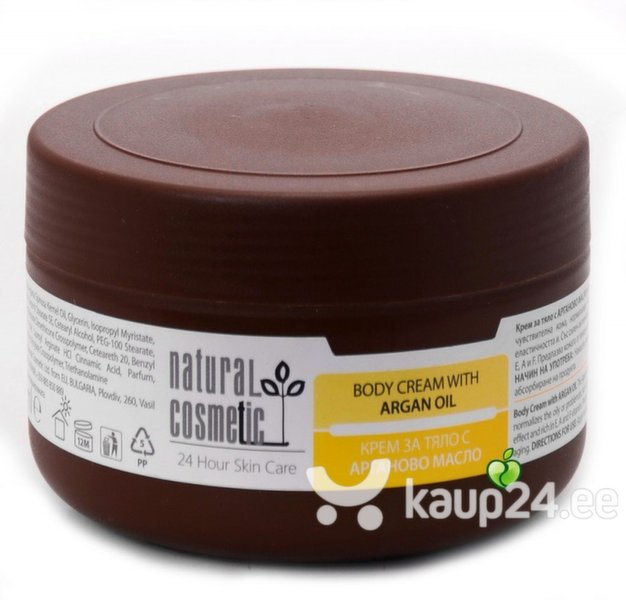 Kehakreem argaaniaõliga Natural Cosmetic 300 ml цена и информация | Kreemid ja ihupiimad | kaup24.ee
