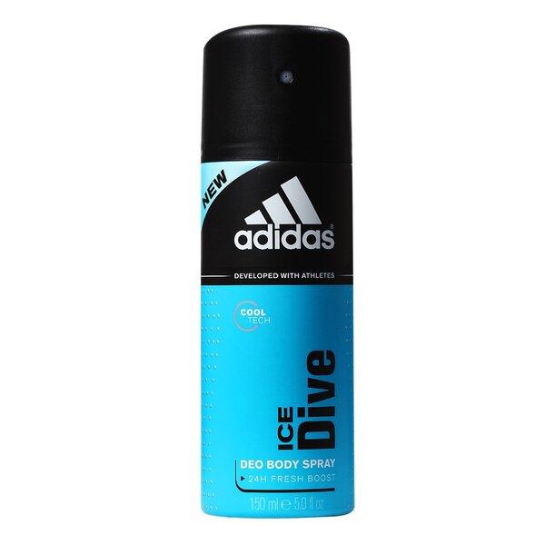 Spreideodorant Adidas Ice Dive meestele 150 ml hind ja info | Lõhnastatud kosmeetika meestele | kaup24.ee