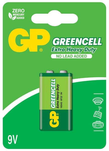 GP Greencell patarei 6F22 (9V) цена и информация   Patareid   kaup24.ee