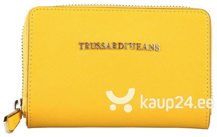 Naiste rahakott Trussardi, kollane цена и информация | Rahakotid, kaarditaskud | kaup24.ee