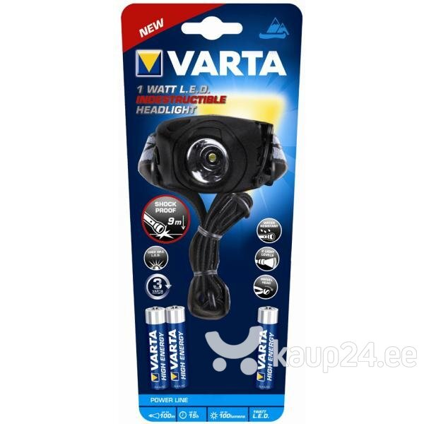 Taskulamp 1 Watt LED Indestructible VARTA цена и информация | Taskulambid, prožektorid | kaup24.ee