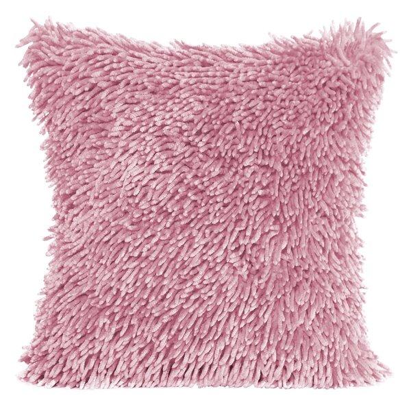 Dekoratiivne padjapüür Shaggy, 40x40 cm, roosa цена и информация | Dekoratiivsed padjad | kaup24.ee