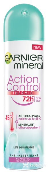 Spreideodorant Mineral Action Thermic Garnier,150 ml цена и информация | Deodorandid | kaup24.ee