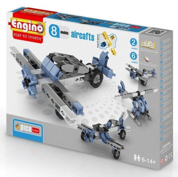 Konstruktor Engino Inventor Lennukid, 8 mudelit цена и информация | Poiste mänguasjad | kaup24.ee