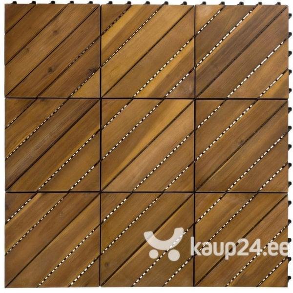 Terrassipõranda plaat Akaatsia, 0,9 m2 цена и информация | Terrassipõrand | kaup24.ee