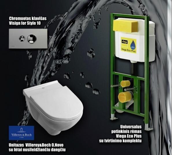 Комплект WC Viega - Villeroy & boch цена и информация | WС-potid | kaup24.ee