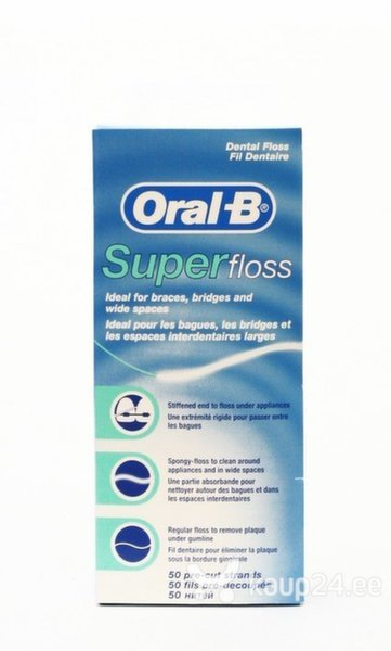 Hambaniit Oral-B Super Floss 50 m. цена и информация | Suuhügieen | kaup24.ee