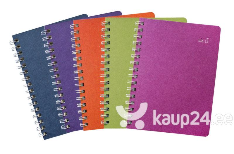 Värviline vihik spiraaliga A5, 75 pastelsetes toonides lehte, ruuduline цена и информация | Värvimis- ja kirjutusvahendid | kaup24.ee