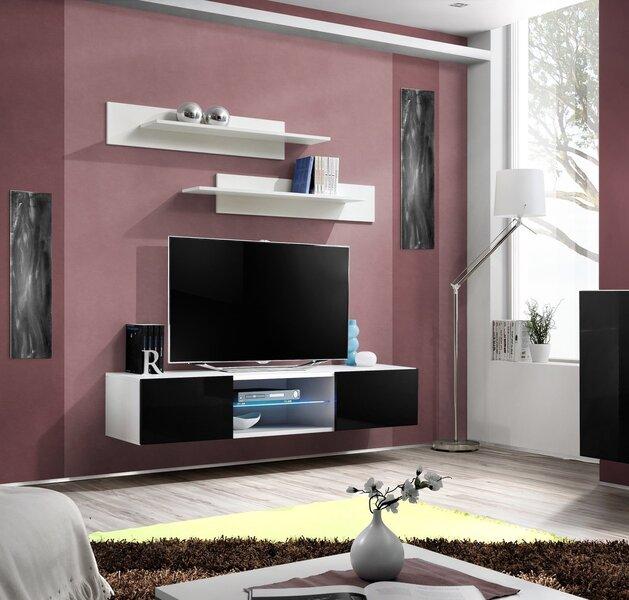 TV laud RTV Fly II, must/valge hind ja info | TV alused | kaup24.ee
