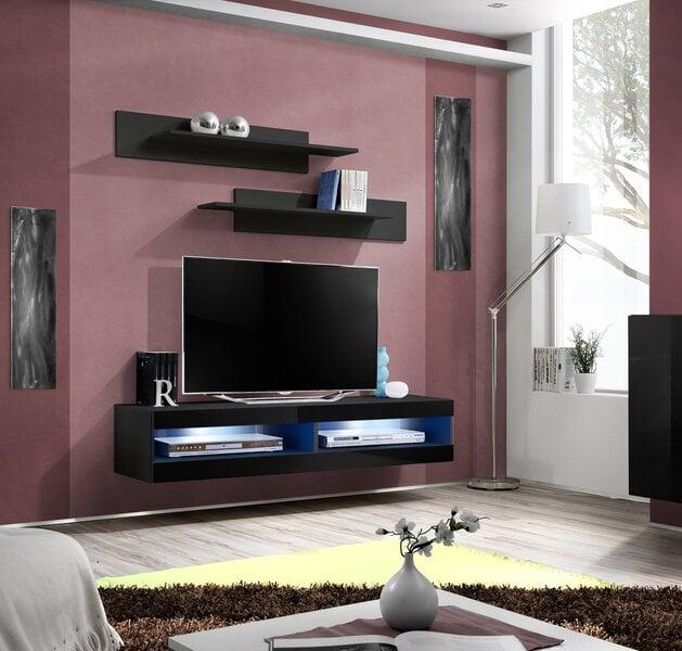 TV laud RTV Fly, must цена и информация | TV alused | kaup24.ee