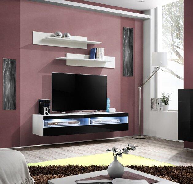 TV laud RTV Fly IV, must/valge hind ja info | TV alused | kaup24.ee