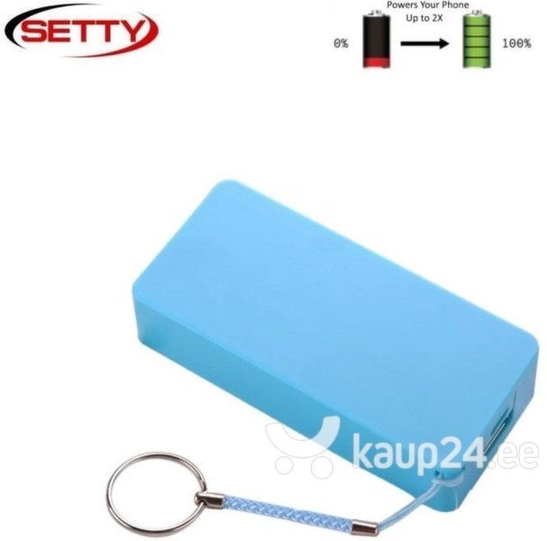Akupank Setty Mini Cube Power Bank 4000mAh, sinine цена и информация | Akupank | kaup24.ee