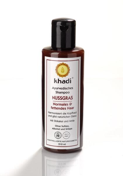 Khadi Nussgras Шампунь для жирных волос, 210 мл цена и информация | Šampoonid | kaup24.ee