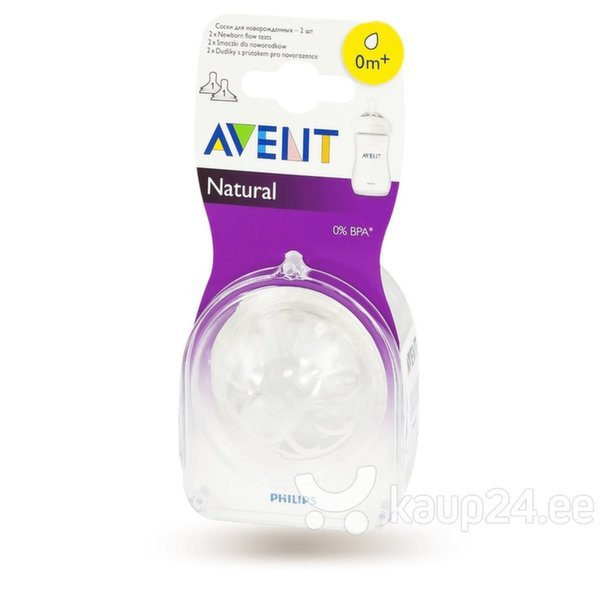 Lutipudeli lutt Philips Avent Natural mini, 0+​ kuud, 2 tk, 1/651 цена и информация | Toitmiseks | kaup24.ee