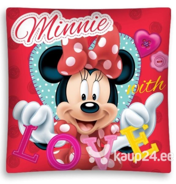 Dekoratiivne padjapüür Minnie with LOVE цена и информация | Dekoratiivsed padjad | kaup24.ee