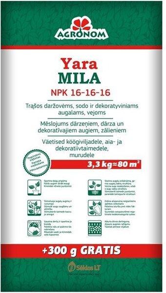 Väetis AGRONOM YARA MILA NPK 16-16-16, 3,3 KG цена и информация | Kuiv väetised | kaup24.ee