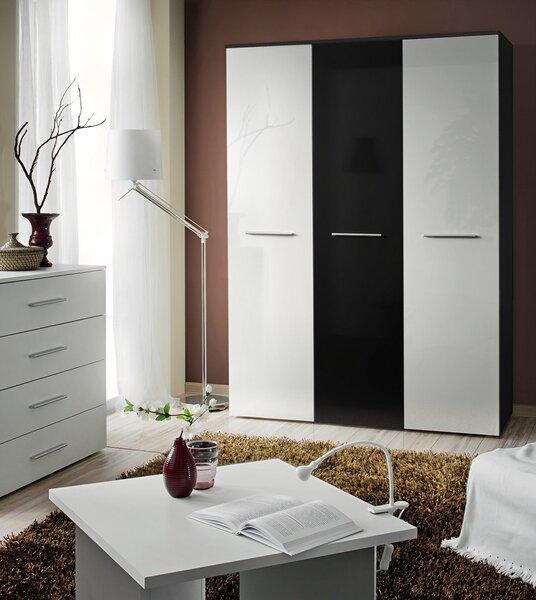Riidekapp Big, valge/must hind ja info | Kapid | kaup24.ee
