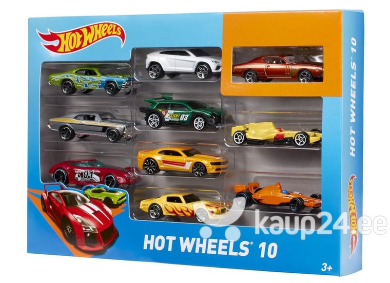 Mudelautode komplekt Hot Wheels, 10 tk., 54886 цена и информация | Poiste mänguasjad | kaup24.ee