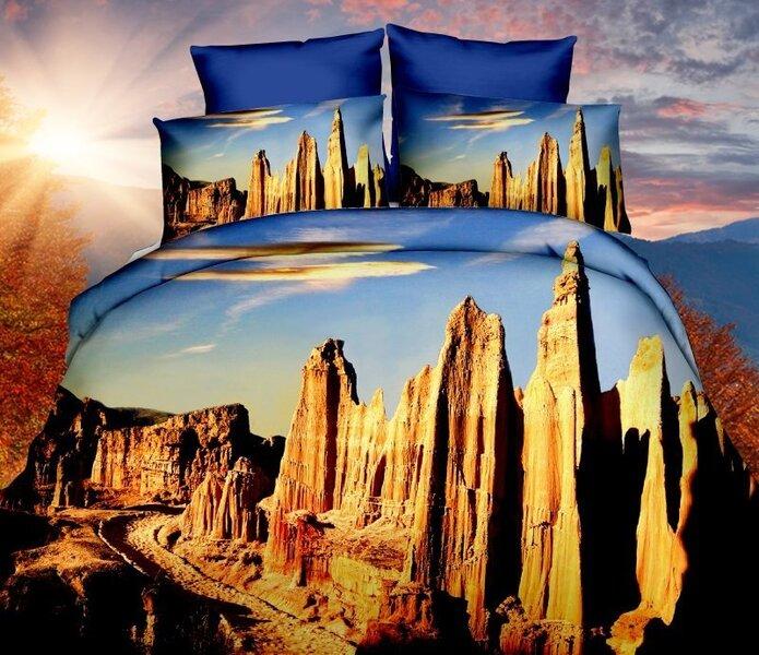 3D Комплект постельное белье, 4 части цена и информация | Voodipesukomplektid | kaup24.ee