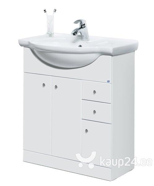 Шкафчик для ванной комнаты с раковиной PERLAS VA75-1LF цена и информация | Vannitoamööbel | kaup24.ee