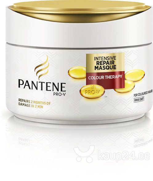 Juuksemask Pantene 2min Colour Damage Rescue 200 ml цена и информация | Maskid, õlid, seerumid | kaup24.ee