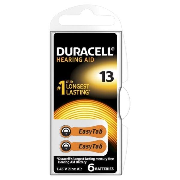 Patareid kuuldeaparaadile Duracell 13, 6 tk цена и информация | Patareid | kaup24.ee