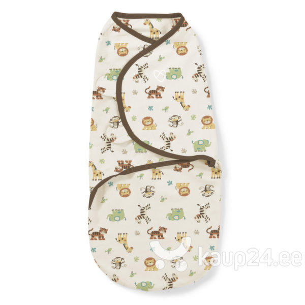 Mähkimistekk-kookon Summer Infant SwaddleMe Graphic Jungle, S- suurus цена и информация | Mähkmed ja mähkimislinad | kaup24.ee