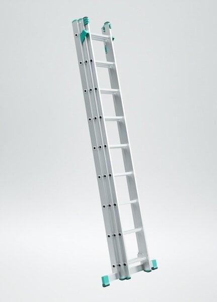 Pikendatav alumiiniumredel 201-399 cm цена и информация | Redelid | kaup24.ee