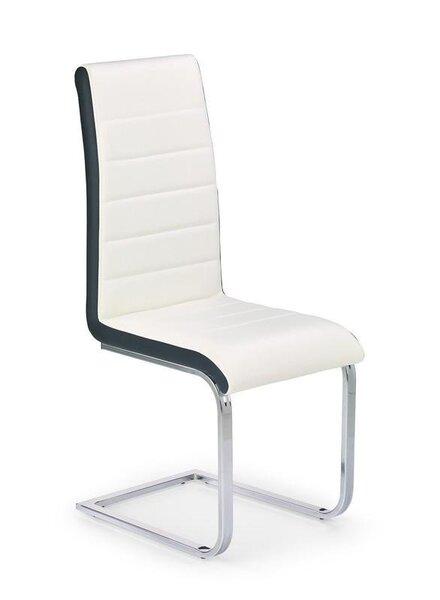 4 tooli komplekt K132, must/valge hind ja info | Köögitoolid | kaup24.ee
