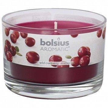 Lõhnaküünal klaaspurgis Wild Cranberry, jõhvika, 6,3x9 cm цена и информация | Küünlad, küünlajalad | kaup24.ee