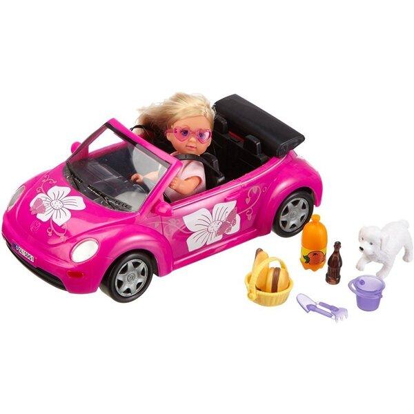 Nukk autoga Beetle Simba Evi Love, 1 tk., 105731539 цена и информация | Tüdrukute mänguasjad | kaup24.ee