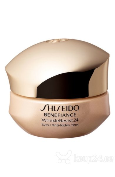Pinguldav silmaümbruskreem Shiseido Benefiance Wrinkle Resist 24 Eye Cream 15 ml цена и информация | Silmaümbruse hooldustooted | kaup24.ee