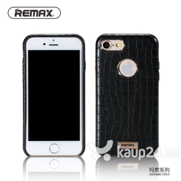 Kaitseümbris Remax Maso Snake Skin sobib Apple iPhone 7, must цена и информация | Mobiili ümbrised, kaaned | kaup24.ee