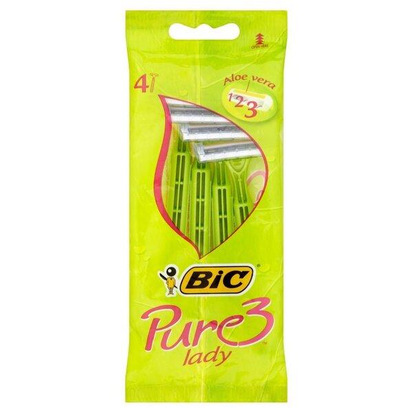 Ühekordsed žiletid naistele Bic Pure 3 Lady Disposable 4 tk цена и информация | Raseerimisvahendid | kaup24.ee