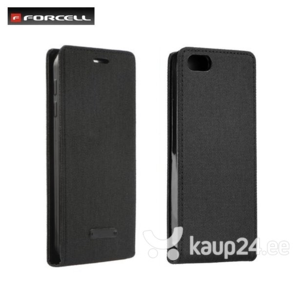 Kaitseümbris Forcell Canvas Flexi sobib Samsung Galaxy S7 Edge (G935F), must цена и информация | Mobiili ümbrised, kaaned | kaup24.ee
