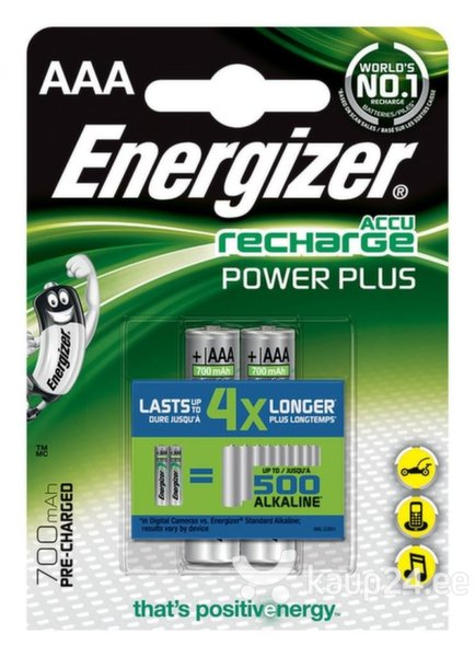 Aku ENERGIZER Power Plus, AAA, HR03, 1.2 V, 700mAh, 2vnt. цена и информация | Patareid | kaup24.ee